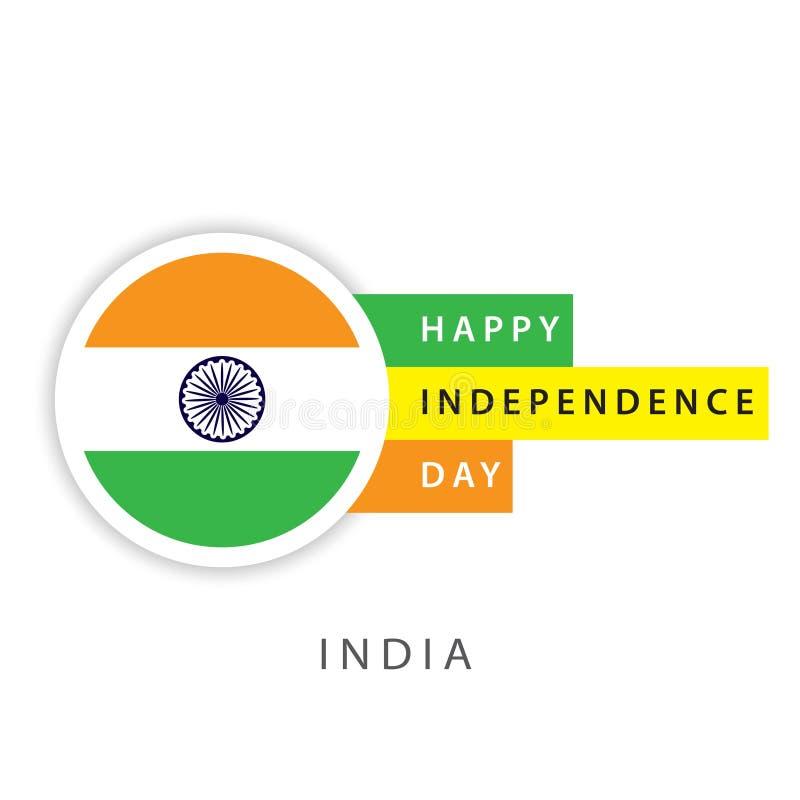 Szczęśliwego India dnia niepodległości szablonu projekta Wektorowy ilustrator royalty ilustracja