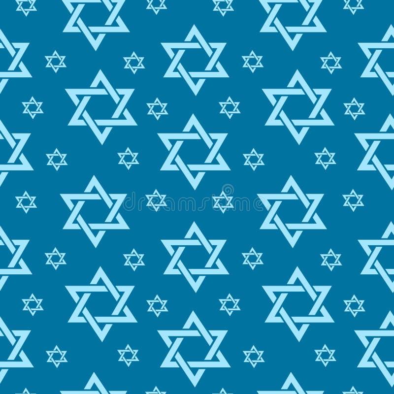 Szczęśliwego Izrael dnia niepodległości bezszwowy wzór z flaga i chorągiewką Żydowskich wakacji niekończący się tło, tekstura royalty ilustracja