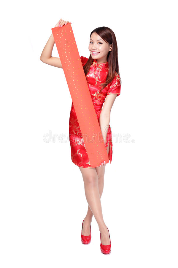 Szczęśliwego kobiety mienia puste czerwone przyśpiewki zdjęcia royalty free