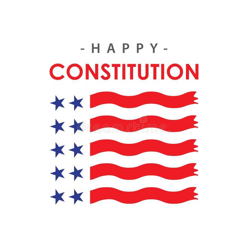 Szczęśliwego konstytucja dnia szablonu projekta Wektorowa ilustracja royalty ilustracja