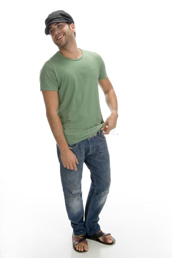 szczęśliwego mężczyzna boczny widok obraz stock