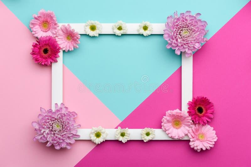 Szczęśliwego Macierzystego ` s dnia, kobiet ` s, dnia, Valentin ` s dzień, lub urodziny Pastelowy cukierek Colours tło Kwiecisteg obraz royalty free