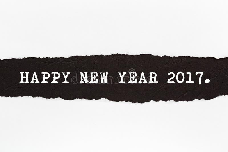 Szczęśliwego nowego roku †2017 'Rozdzierający papier zdjęcia royalty free