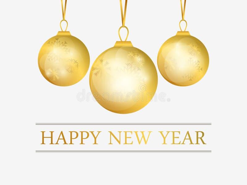 szczęśliwego nowego roku, E deseniuje płatek śniegu Kartka z pozdrowieniami projekta szablon wektor royalty ilustracja