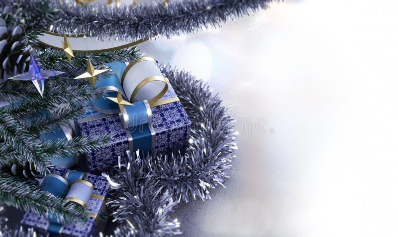 Szczęśliwego nowego roku i Wesoło bożych narodzeń skład obrazy royalty free