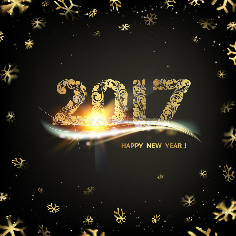 szczęśliwego nowego roku karty ilustracji