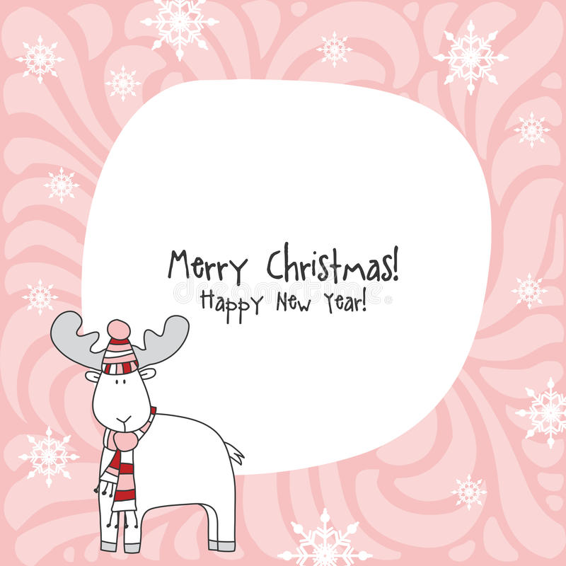 szczęśliwego nowego roku karty więcej toreb, Świąt oszronieją Klaus Santa niebo ilustracji