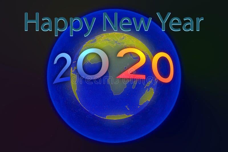 Szczęśliwego nowego roku 2020 zdjęcie royalty free
