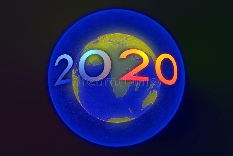 Szczęśliwego nowego roku 2020 zdjęcia royalty free