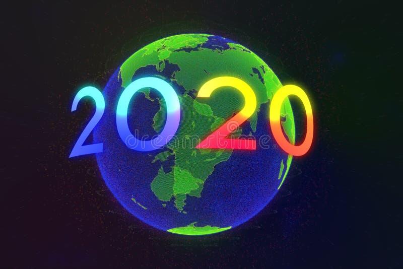 Szczęśliwego nowego roku 2020 obrazy royalty free