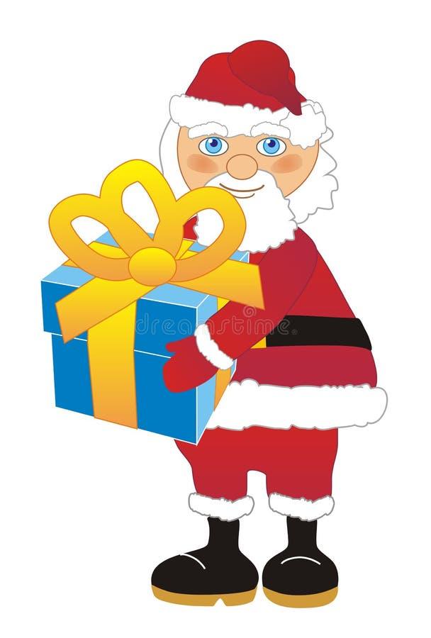 szczęśliwego nowego roku, Santa claus prezent zdjęcia stock