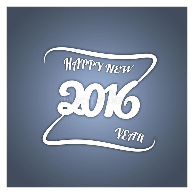 szczęśliwego nowego roku, Wektor papierowa ilustracja na eleganckim barwionym tle obrazy royalty free
