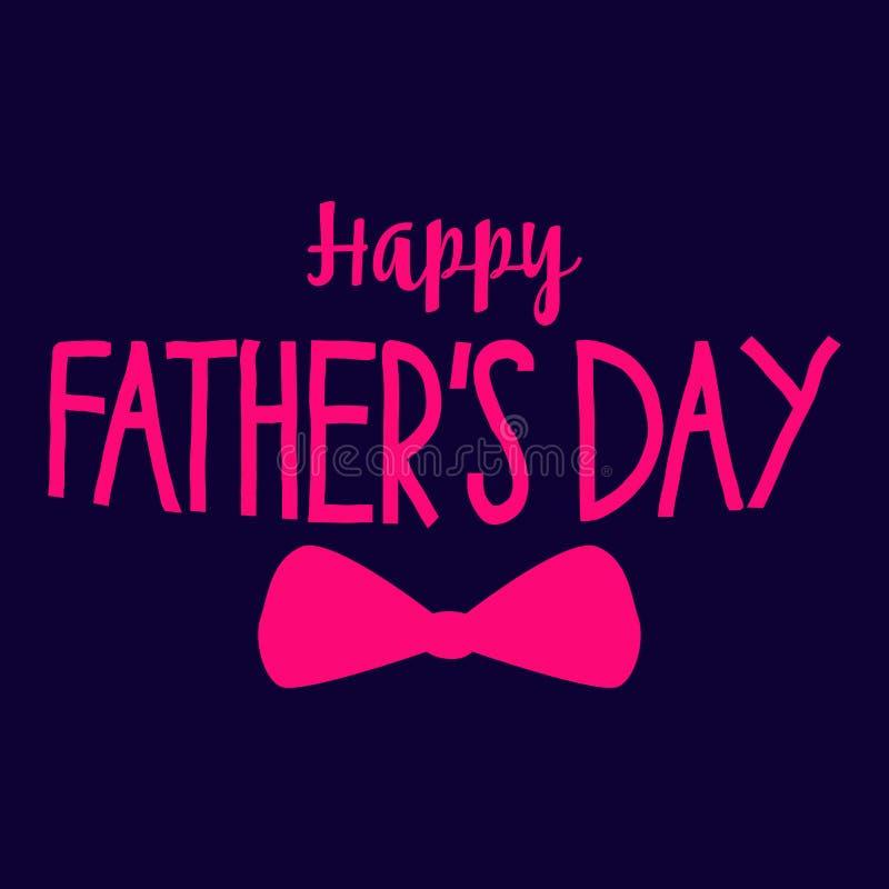 Szczęśliwego ojca ` s dnia literowania wektorowy tło Szczęśliwy ojca dnia kaligrafii światła sztandar fotografia royalty free