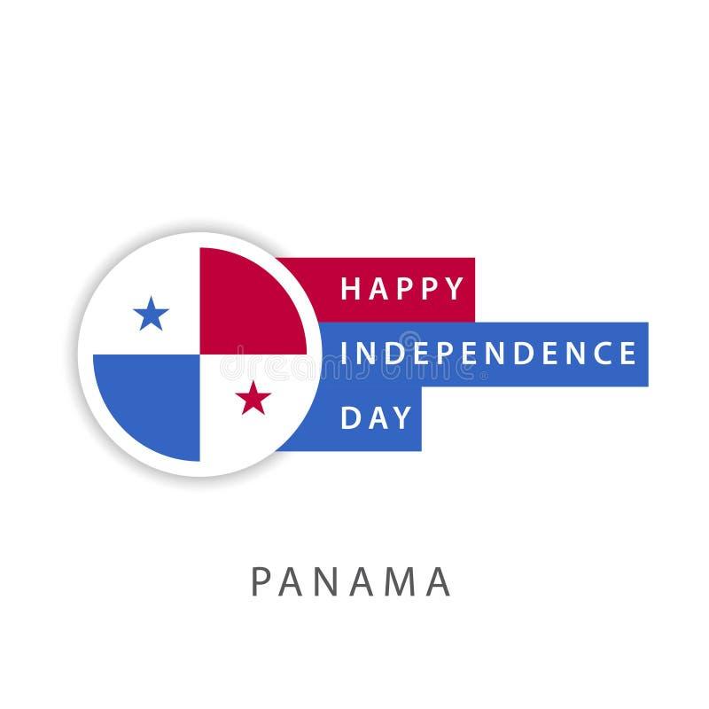 Szczęśliwego Panamskiego dnia niepodległości szablonu projekta Wektorowy ilustrator ilustracja wektor