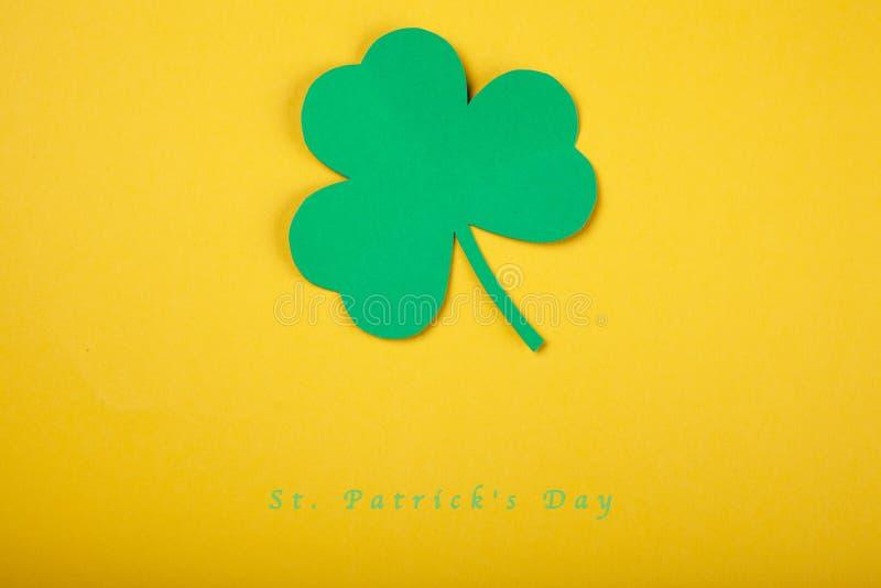 Szczęśliwego St Patrick ` s dnia pojęcia dobra karta zdjęcia royalty free