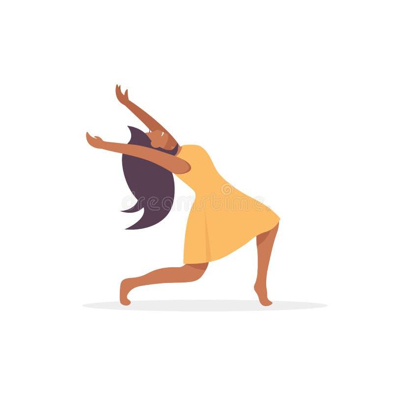 Szczęśliwego tana kobiety afro charakter royalty ilustracja