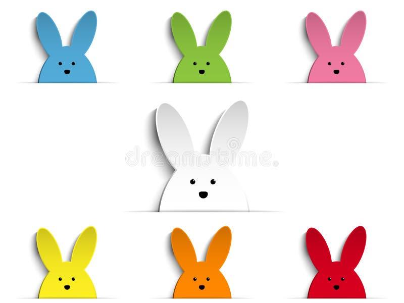 Szczęśliwego Wielkanocnego królika królika Ustalona kreskówka