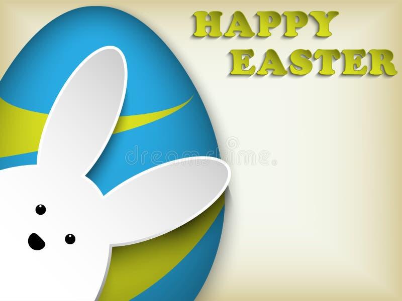 Szczęśliwego Wielkanocnego królika królika Wielkanocny jajko Retro royalty ilustracja