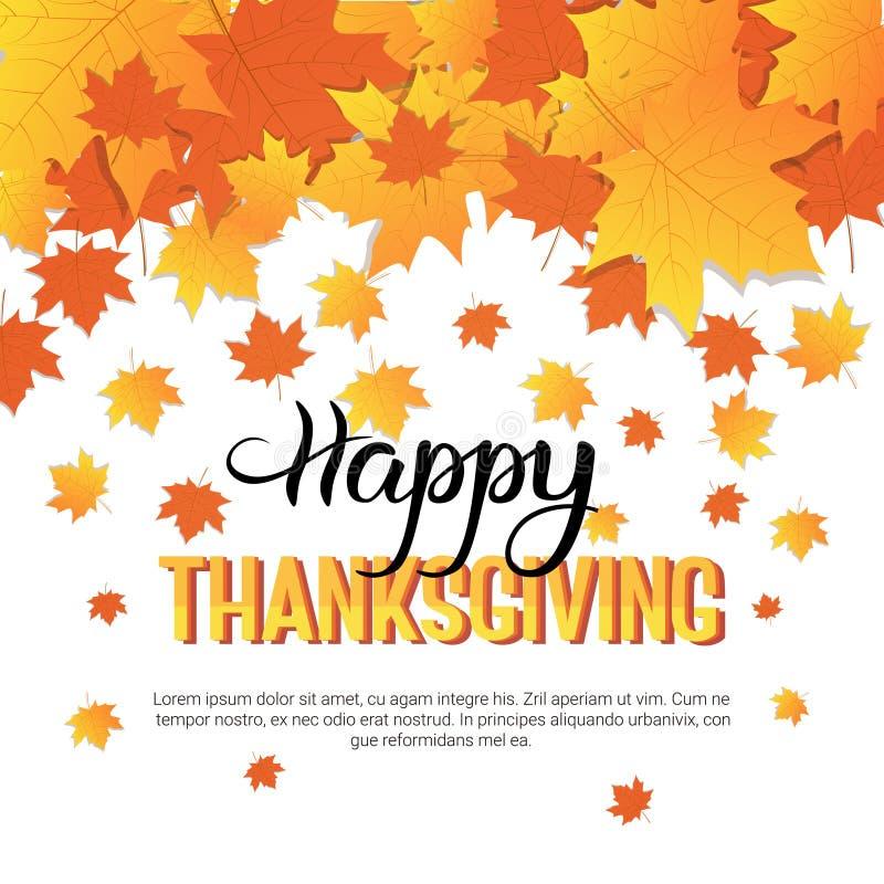 Szczęśliwej dziękczynienie dnia jesieni Tradycyjny Wakacyjny kartka z pozdrowieniami royalty ilustracja