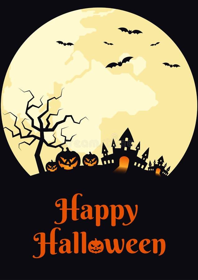 Szczęśliwej Halloweenowej nocy projekta plakatowy szablon ilustracji
