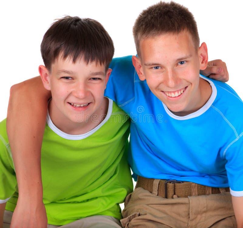 szczęśliwi braci potomstwa obrazy stock