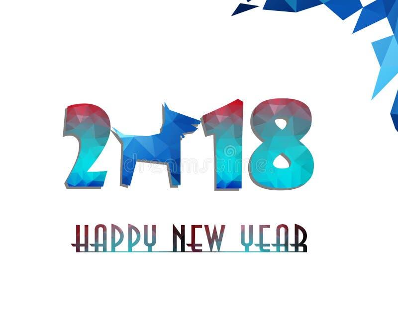 Szczęśliwi Chińscy 2018 nowego roku karciany rok pies ilustracja wektor