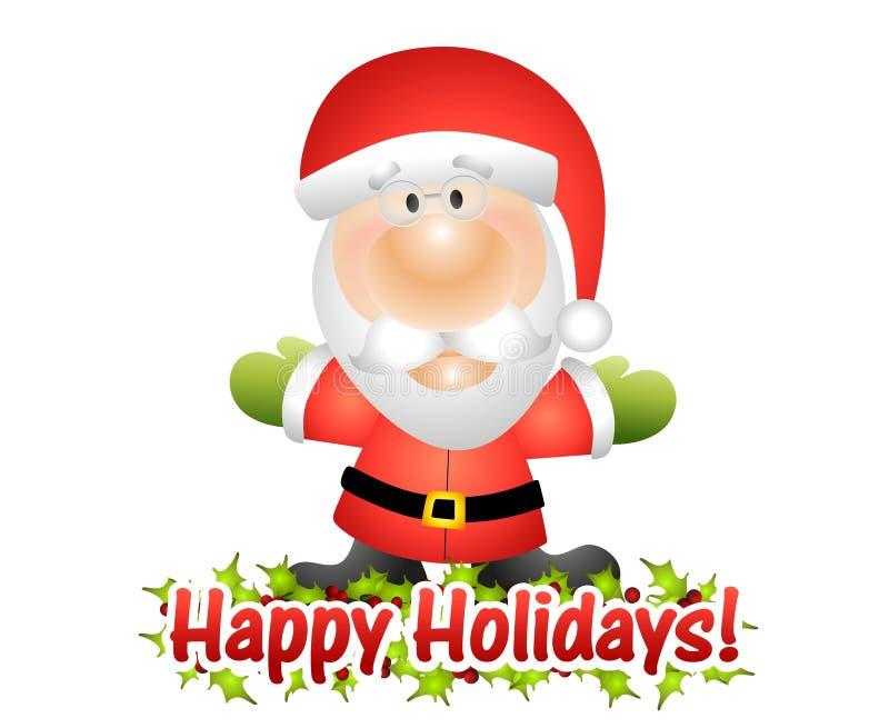 szczęśliwi Claus wakacje Santa ilustracja wektor