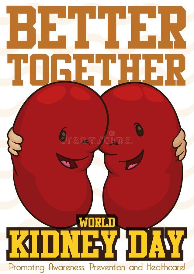 Szczęśliwi cynaderki Obejmujący i Upamiętniają Światowego cynaderki dzień, Wektorowa ilustracja ilustracja wektor