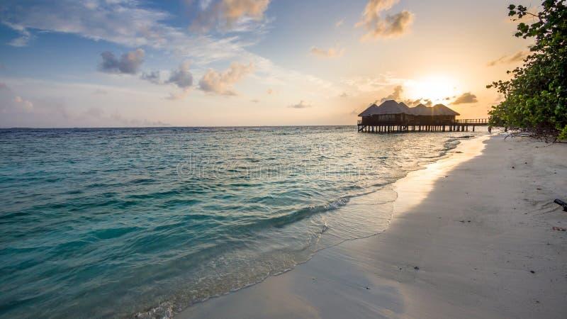Szczęśliwi dni w Maldive zdjęcia stock