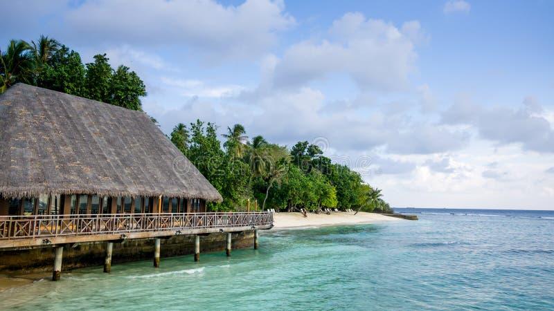 Szczęśliwi dni w Maldive zdjęcie stock