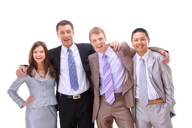 Szczęśliwi dużo etniczni ludzie biznesu zdjęcie stock