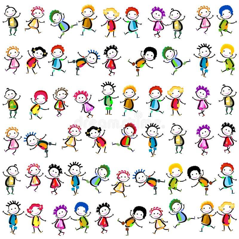 Szczęśliwi dzieci royalty ilustracja