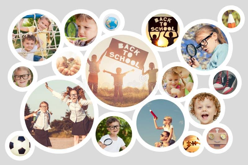 Szczęśliwi dzieci bawić się outdoors przy dnia czasem fotografia royalty free
