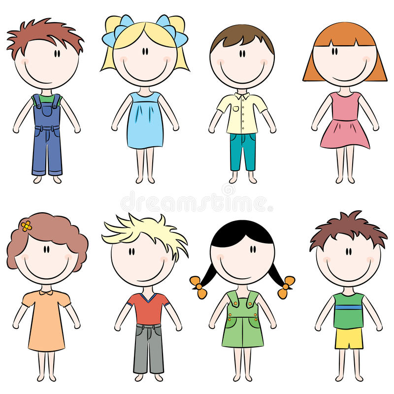 szczęśliwi dzieciaki ilustracja wektor