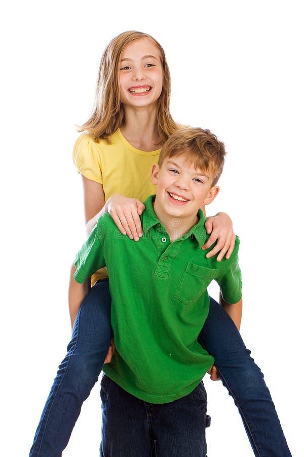 szczęśliwi dzieciaki zdjęcie royalty free