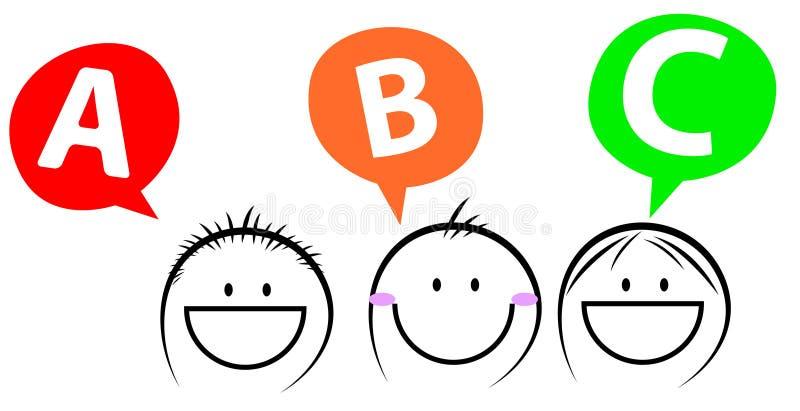 szczęśliwi dzieciaki trzy royalty ilustracja