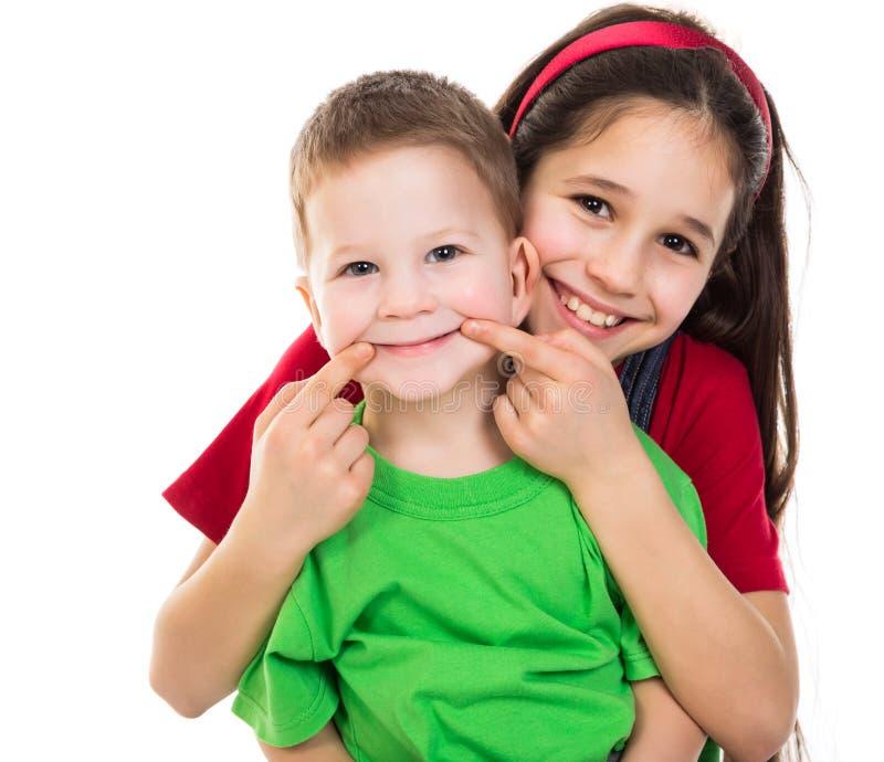 Szczęśliwi dzieciaki wpólnie fotografia stock