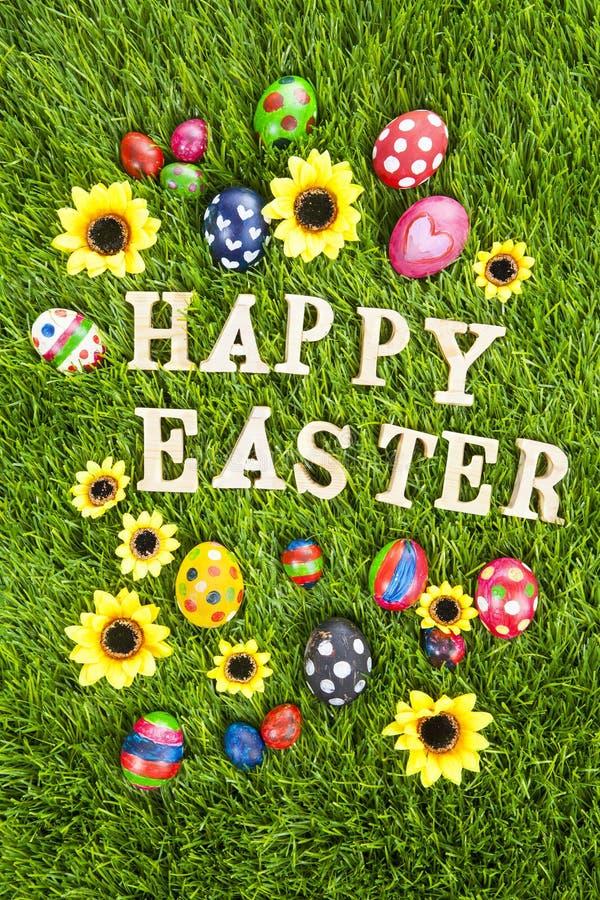 Szczęśliwi Easter jajka pionowo royalty ilustracja