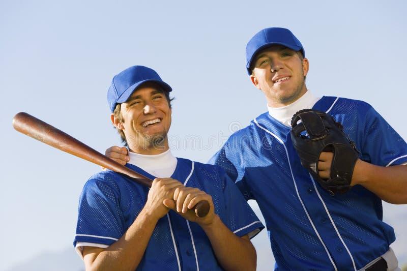 Szczęśliwi gracze baseballa fotografia royalty free