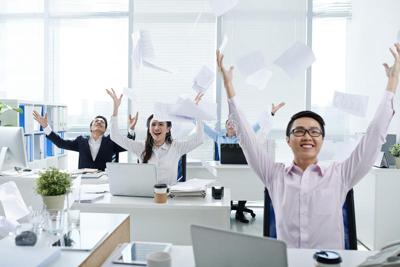 szczęśliwi ludzie biznesu obrazy royalty free