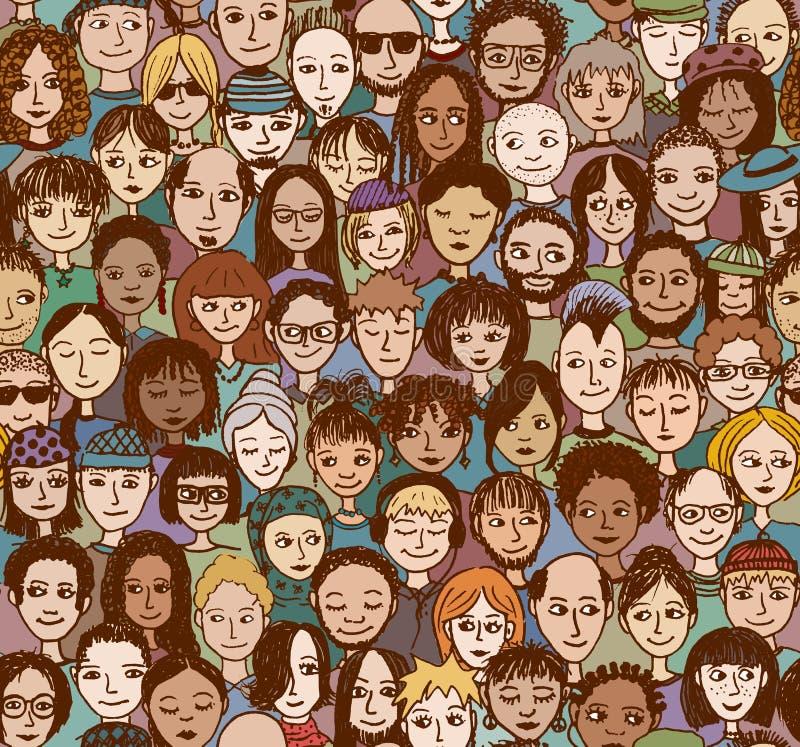 Download Szczęśliwi Ludzie W Kolorze - Ilustracja Wektor - Ilustracja złożonej z mężczyzna, kolekcja: 57655012