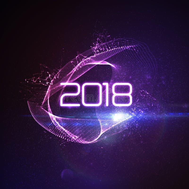 Szczęśliwi Nowi 2018 rok ilustracja wektor