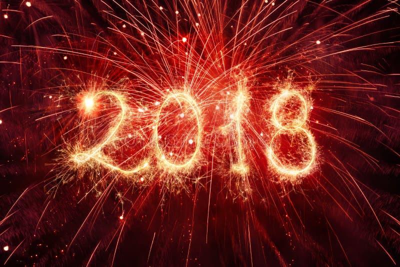 Szczęśliwi nowy rok 2018 zdjęcia stock