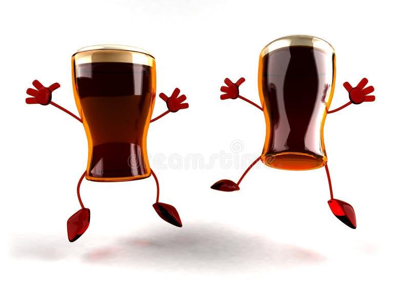 szczęśliwi piwa ilustracji