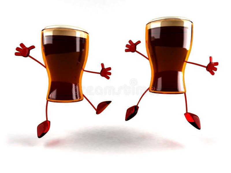 szczęśliwi piwa royalty ilustracja