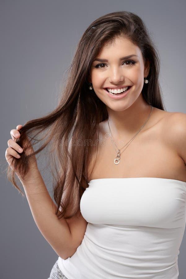 szczęśliwi portret kobiety young obraz stock