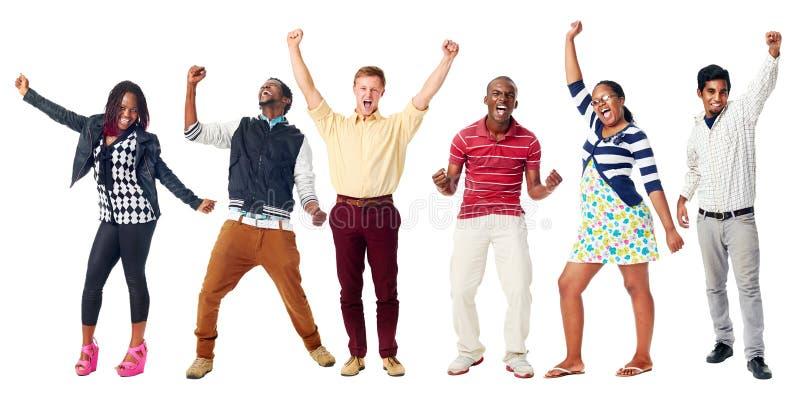 Szczęśliwi różnorodni ludzie