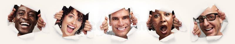 Szczęśliwi radośni ludzie fotografia stock