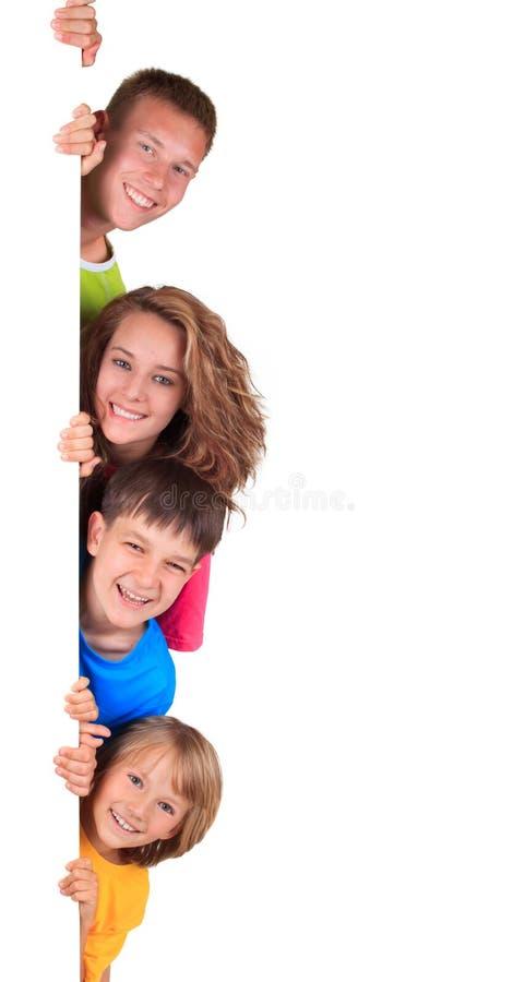 Szczęśliwi rodzeństwa obrazy royalty free