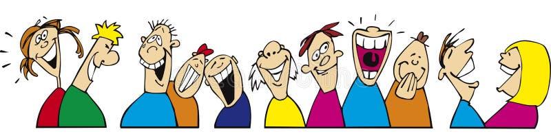 szczęśliwi roześmiani ludzie ilustracja wektor